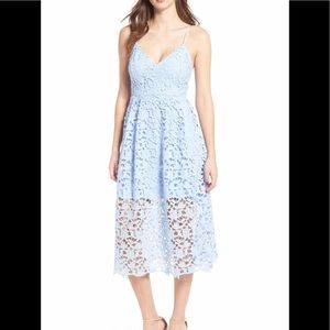 NWT ASTR THE LABEL LACE MIDI DRESS, XXL